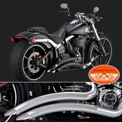 Softail Big Radius Noir ou Chrome pour Harley Davidson Breakout Fat Boy CVO