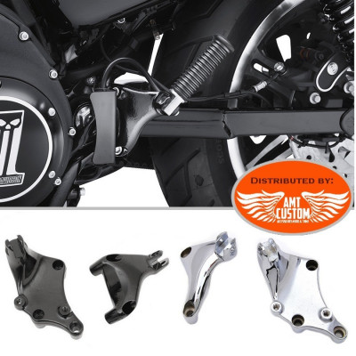 Sportster 2014 to today Kit Mont passenger Footpegs for  XL 883 and 1200  Harley Davidson