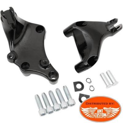 Sportster 2014 à aujourd'hui supports Repose pieds Noir passager pour XL 883 et 1200 Harley