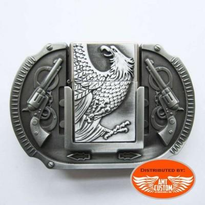 Boucle ceinture Biker Eagle gun's briquet