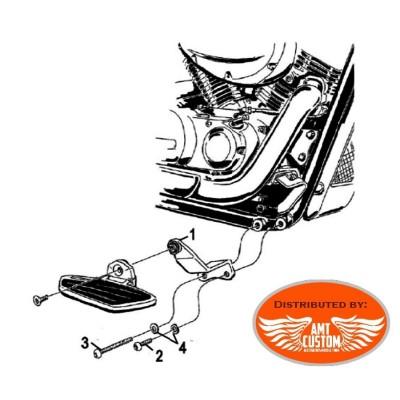 Installation Platines Reposes pieds Pilote Noire - Honda VT750 C4, C5, C6, C2B