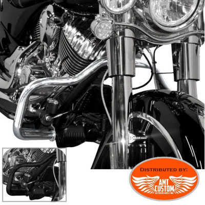 Indian Pare jambes Pare-carter Chrome ou Noir pour Chief - Pare Carter 32 mm