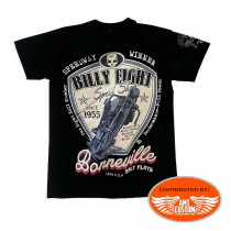 T-Shirt Billy Eight Moto Bonneville de face