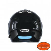 Sticker casque moto rétro-réfléchissant vue sur le casque accessoire casque moto custom harley trike chopper et bobber