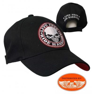 Live free hardcore biker ball cap