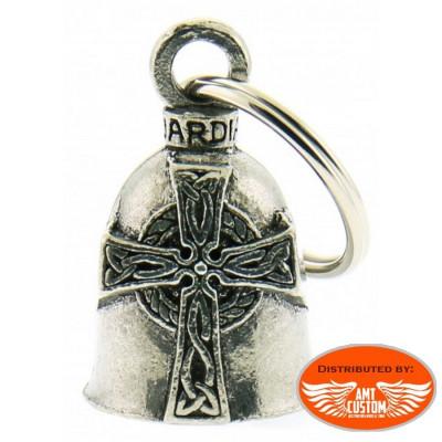 Clochette croix celtique porte-bonheur moto Guardian Bell