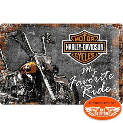 Vintage Decorative plate moto custom Harley Davidson