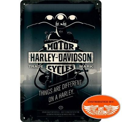 Plaque décorative Harley Davidson dark night moto custom trike motard biker idée cadeaux