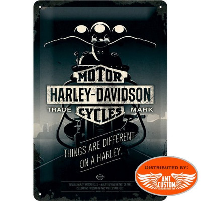 Dark Night Decorative plate moto custom Harley Davidson