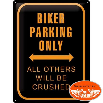 Plaque décoration Biker Parking Only