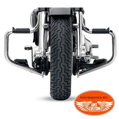 Sportster fat engine guards for Forward Controls XL883 XL1200, Forty Eight, Iron, Custom, Super Low, Seventy Two
