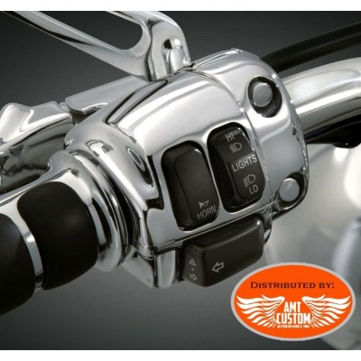 Harley Boitier interrupteurs Commodos chrome Sportster Dyna Softail