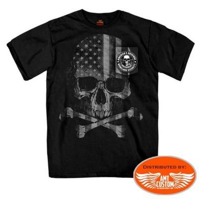 Skull bones biker tee-shirt