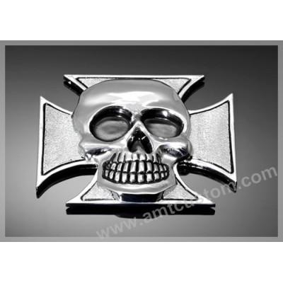 Emblème autocollant Croix de Malte Tête de mort Skull Sticker motorcycle