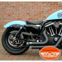 Bobber Sportster Shocks Progressive Suspension Black for XL883 XL1200, Forty Eight, Iron, Custom, Super Low, Seventy Two