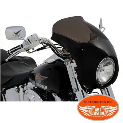 Softail Bulle capotage phare pour Harley pare-brise court saute vent