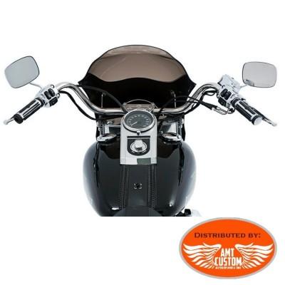 Pare-brise fumé Softail Bulle capotage phare pour Harley pare-brise court saute vent