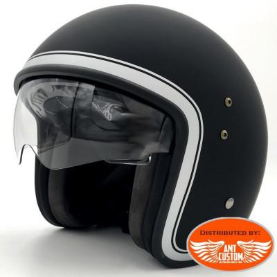 Casque Jet Smart Noir homologué CE