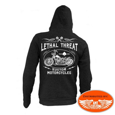 Sweat à Capuche Biker Lethal Kustom Motorcycles.