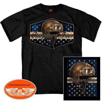 T-shirt Biker Google Choppers Inc - Billy Lane