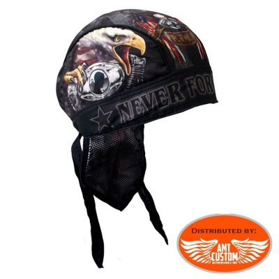 Eagle Vtwin and flag US biker Bandana Zandan