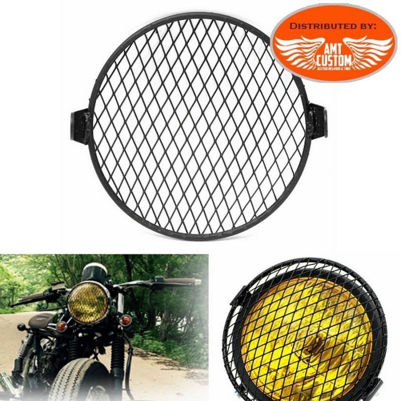 grile noir feux avant universelle moto custom trike harley motard biker