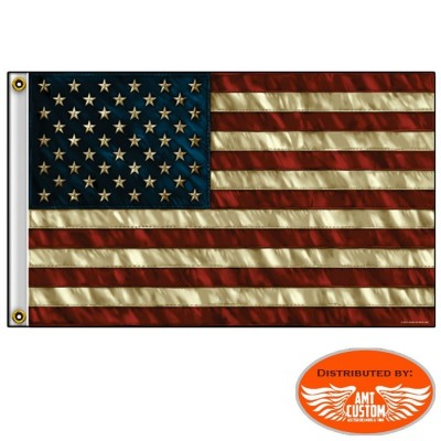 USA flag vintage motocycle custom trike harley