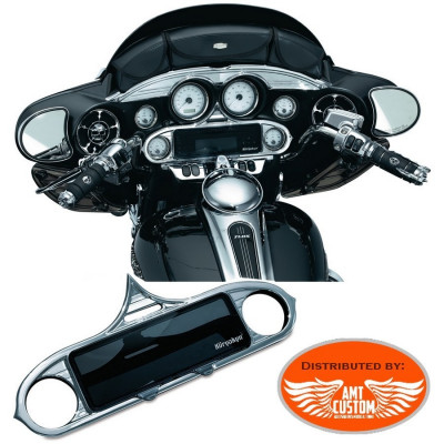 Enjoliveur Stéréo Entourage chrome pour Harley FLH Electra Glide, Street Glide et Tri Glide