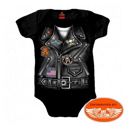 Biker baby Jacket Perfecto motocycle Body