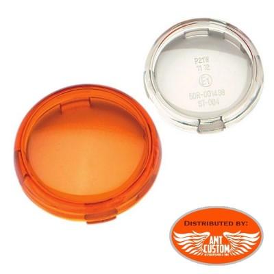 Harley Lentille cabochon orange ou clair Clignotants  pour Electra Dyna Sportster de 2000 à aujourd'hui OEM 68973-00