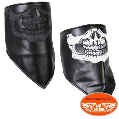 Foulard / Masque cuir Skull.