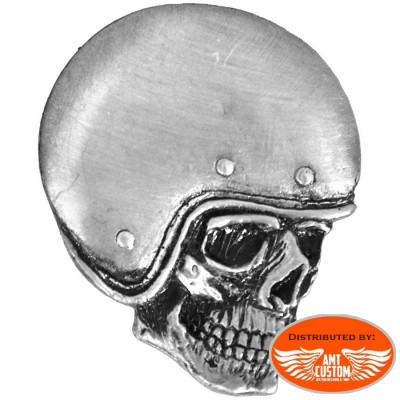 PNA1248 Pin's Skull tête de mort casque épinglette moto custom trike harley motard biker