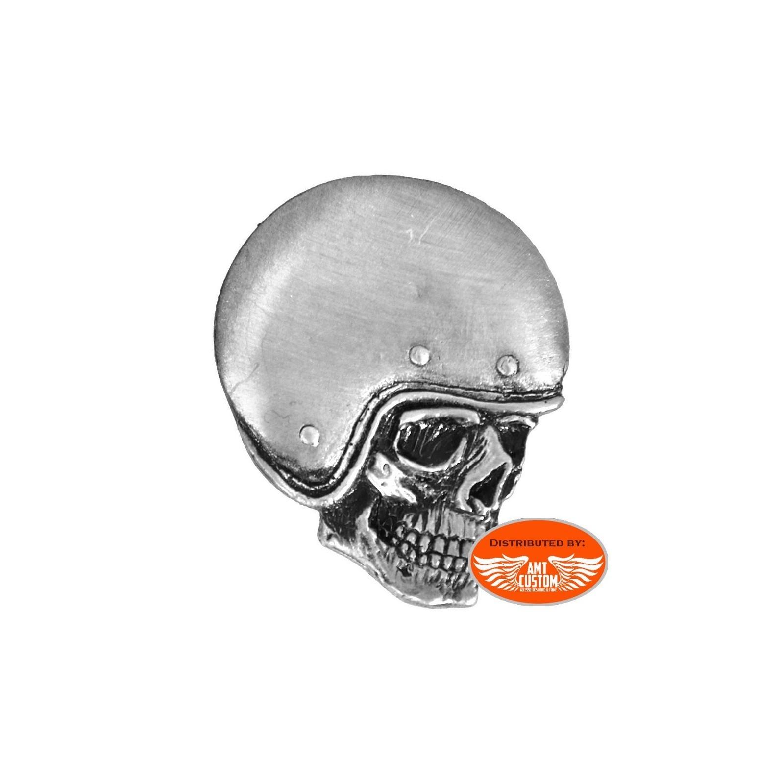 Hells-Design Pins /épinglette Biker Skull Casque t/ête de Mort