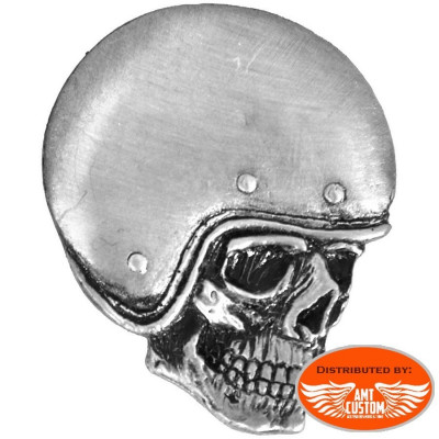 Pin's Biker Skull Casque.