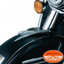 Embleme Garde boue aigle eagle ornement moto custom trike harley motard biker
