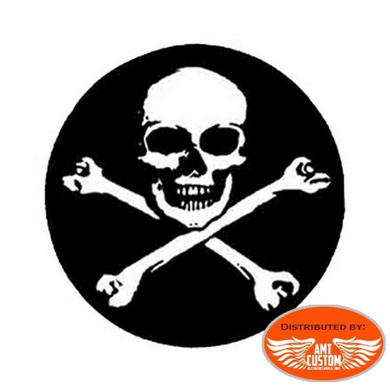 STX2005 sticker casque moto skull bones tete de mort moto custom motard biker harley