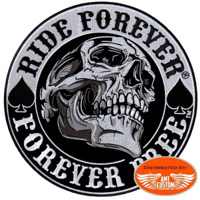Ride Forever skull Patch Biker jacket vest