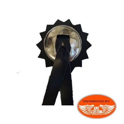 Concho biker cuir et chrome Petit Modèle modele country