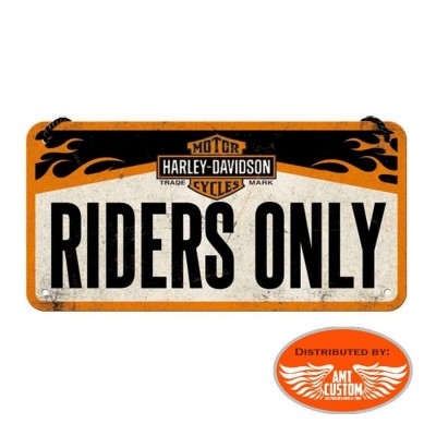 "Plaque Harley Davidson ""Riders Only"" décorative"