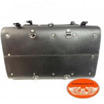 Suitcase Traveler pack Bag motorcycles Kustom Harley , Trikes details bottom