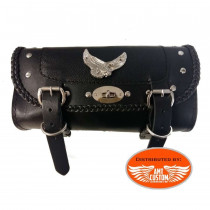 Sacoche outils verrouillable cuir Aigle - fourche moto