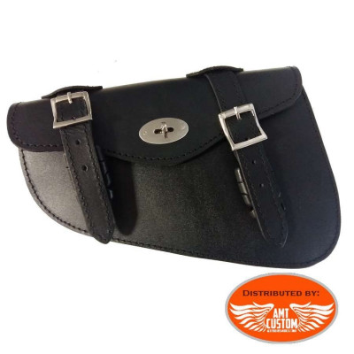 LockableTriangular bag custom leather motorcycle for Harley Davidson Sportster