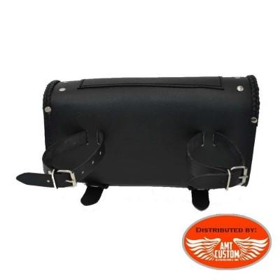 Attaches Sacoche outils verrouillable cuir Aigle - fourche moto