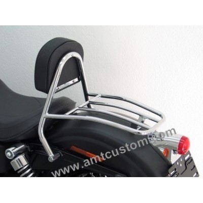 Sissy Bar Pilote Harley & Porte-bagages moto harley conducteur