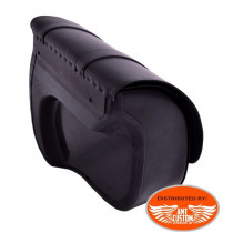 Installation Dyna Sacoche solo cuir grand format pour Harley Davidson