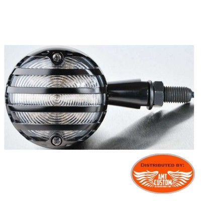Clignotant LED avec grille Noire 12V / 1,8W pour harley sporster chopper