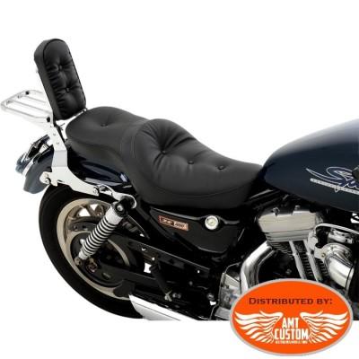 Sportster 1982 à 2003 Selle confort Bi-place XL 883 & 1200 pour Harley Davidson