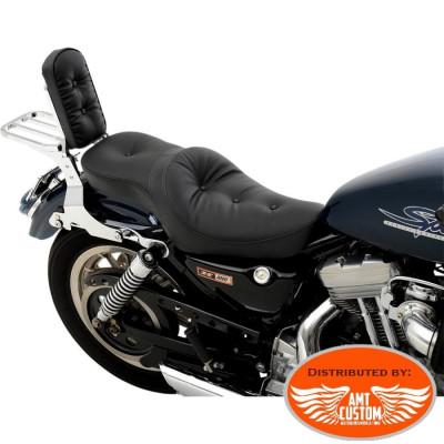 Sportster 1982 à 2003 Selle confort Bi-place XL883 & XL1200 pour Harley Davidson