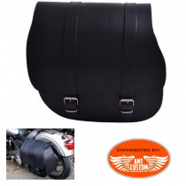 Dyna Sacoche latérale solo cuir grand format pour Harley Davidson