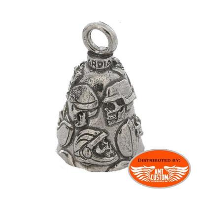 Clochette 13 Skull  porte-bonheur moto Guardian Bell